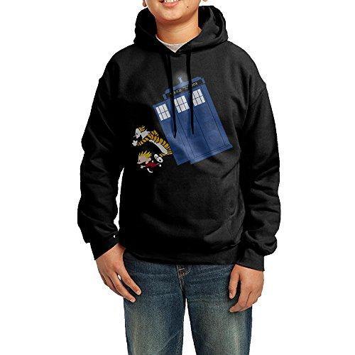 [OVIKA Teenager's Calvin And Hobbes Hooded Sweatshirt Size M] (Calvin And Hobbes Couple Costume)