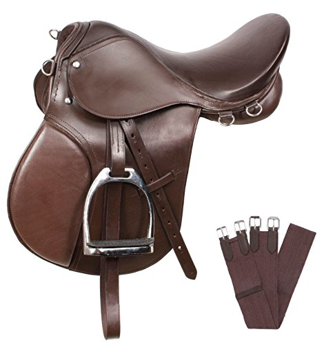 AceRugs New Brown All Purpose English Riding Horse Saddle ()