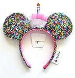 Mickey Mouse Ears Birthday Rainbow Sequin Disney Parks Authentic Merchandise