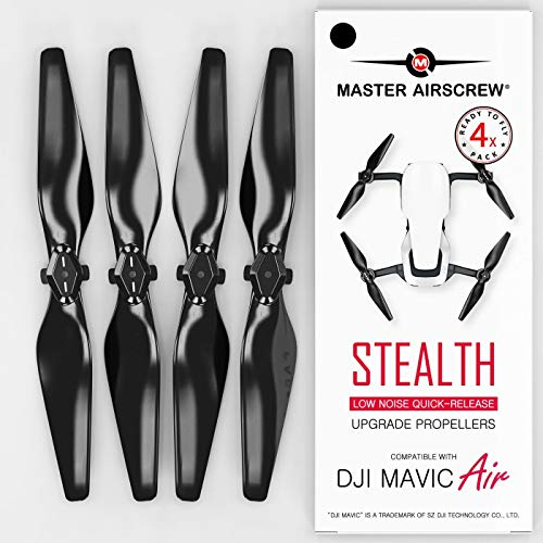 MAS Upgrade Propellers for DJI Mavic AIR in Black – x4 in Set