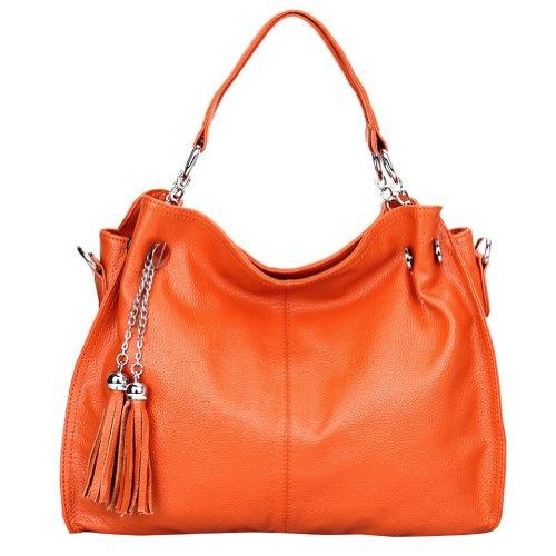 bandoulière Orange cuir épaule femme Sac main Sac L H porté à Q0217 x T Sac DISSA x 38x28x14cm YRqU1T