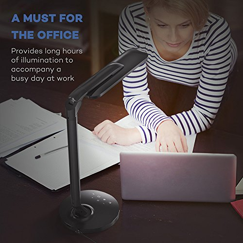 TaoTronics LED Desk Lamp Fully Rotatable Dimmable, Wider Lighting Zone, USB Charging Port, 4 Color Modes and 4 Brightness Levels, 1 Hour Timer, Official Member of Philips EnabLED Licensing Program by TaoTronics (Image #7)'