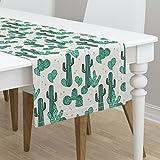 Table Runner - Cactus Botanical Desert Southwest Cacti Cactuses by Andrea Lauren - Cotton Sateen Table Runner 16 x 90