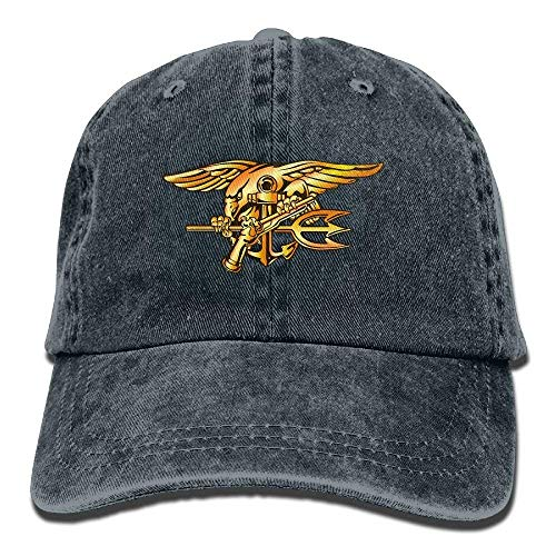 Navy Seals Trident Dad Hat Adjustable Denim Hat Classic Baseball Cap