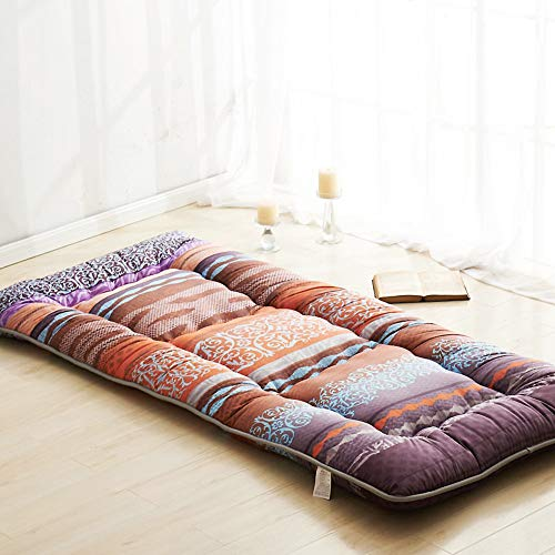 ASDFGH Traditional Japanese Quilting Futon mattresses, Thicken Tatami Mattress Foldable Floor mat, Four Seasons Available Mattress pad-C Twin