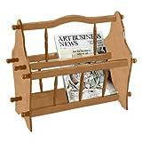 Frenchi Home Furnishing Magazine Rack, Oak Color