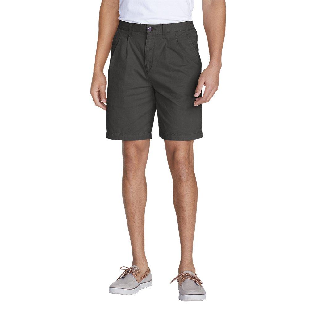 Eddie Bauer Men's Legend Wash Side-Elastic Chino Shorts, Dk Slate Tall 42 Tall