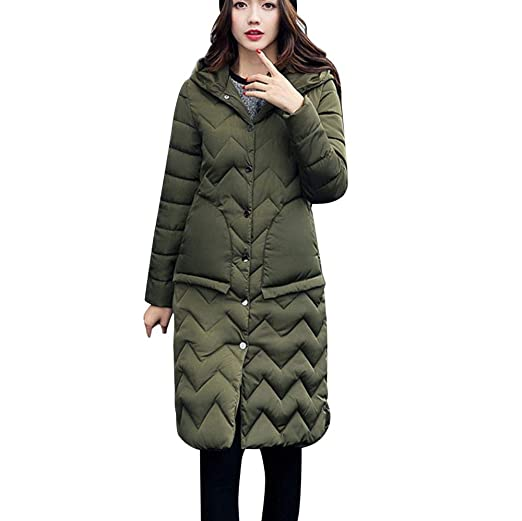 GREFER Women Winter Jackets Long Warm Thicken Padded Hooded ...