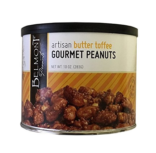 - Belmont Peanuts Artisan Gourmet Virginia Peanuts (Butter Toffee, 10 oz)