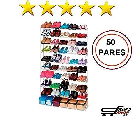 Mueble Zapatero 50 Pares ikea │ Estanteria de Zapatos │ Armario para zapatos Organizador barato ®: Amazon.es: Hogar
