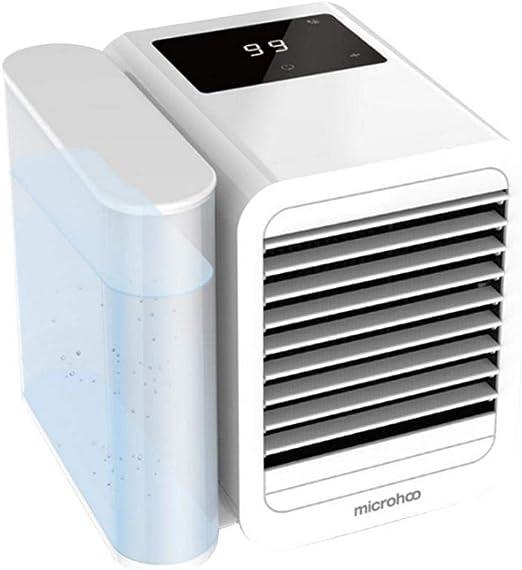 LHZHG Aire Acondicionado Portátil Enfriador, 3-en-1 Mini Enfriador Humidificador Purificador de Aire Portátil USB Aire Acondicionado para Casa/Oficina/Camper: Amazon.es: Hogar