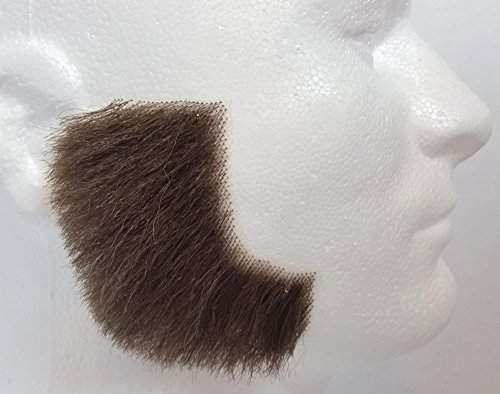 Sideburns MEDIUM BROWN - 100% Human Hair - no. 2019 - REALISTIC! - Perfect For Theater - -
