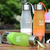 Judek 650ml Sports Infused Or Infuser Water Bottle With a Bottom Loading Fruit Infusion and Lemon Citrus Juice Squeezer Tumbler Cup.