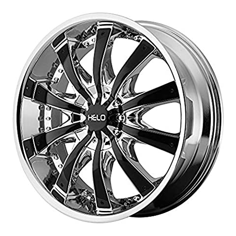 Helo HE875 Triple Chrome Plated Wheel With Gloss Black Accents (22x9.5