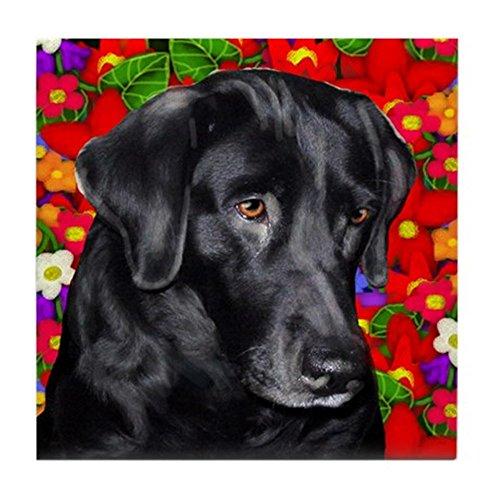 CafePress - LABRADOR RETRIEVER DOG GARDEN Tile Coaster - Tile Coaster, Drink Coaster, Small Trivet