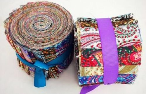 - 2.5 inch Paisley Parade Jelly Roll 100% Cotton Fabric Quilting Strips Only by eight24hours
