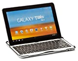Cooper Cases (TM) Aluminum Buddy Samsung Galaxy Tab 3 10.1 (P5200 / P5210 / P5220) Keyboard Dock with Black Keys (Bluetooth 3.0 connection, Ultra Slim, Lightweigt Design, Brushed Aluminum Finish, English QWERTY Keyboard, 82 Laptop Keys, 55 Hour Battery)