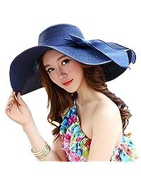 fcd9edd4 Fashion Ladies Woman Wide Large Brim Floppy Fold Summer Swimming Garden  Beach Straw Sun Hat Cap