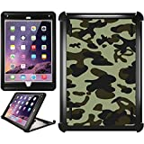 OtterBox iPad Air 2 Black Defender Series Case with Camo Rich Green Design by Coveroo