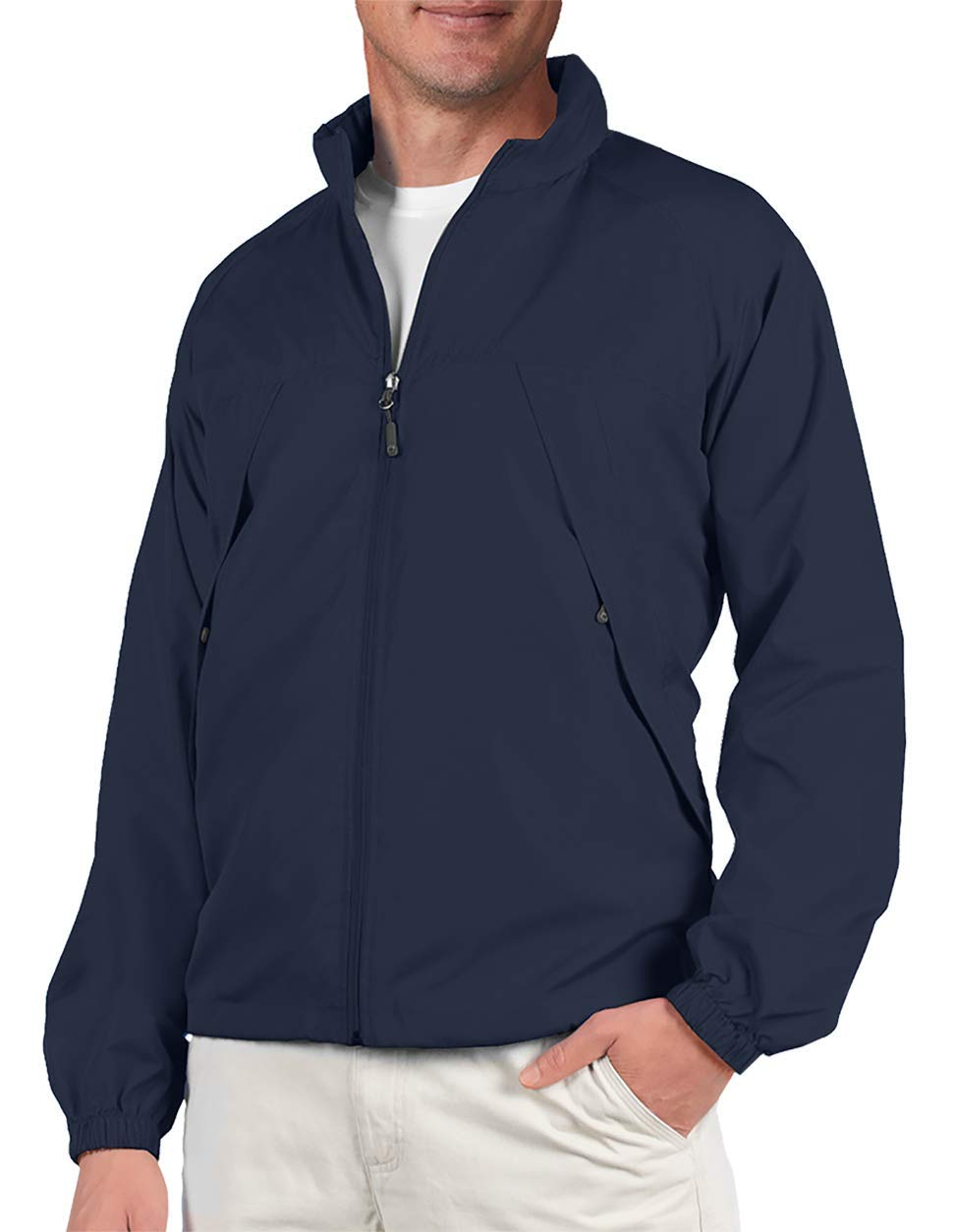 SCOTTeVEST Mens Pack Windbreaker Jacket - 19 Pockets - Spring Jackets for Men (NVY XXL) by SCOTTeVEST