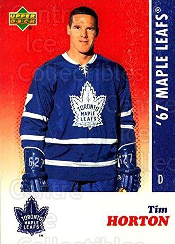 Tim Horton Hockey Card 2007 Toronto Maple Leafs 1967 Commemorative #11 Tim Horton