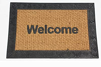 "Coco Door Mat Natural Coir and Rubber Size 20"" X 30"""