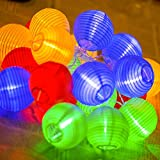 Uping battery operated LED Fairy Lights 2 Mode String light 20 Lampion Lantern 4.2M Multi color for Indoor Outdoor Party Garden Christmas Halloween Wedding Home Bedroom Yard Deck Decora