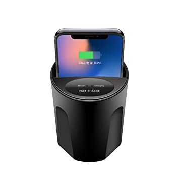 Amazon.com: UKCOCO Qi Wireless Car Charger, Cup Holder USB ...