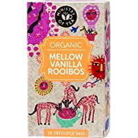 Ministry of Tea Organic Mellow Rooibos with Vanilla Herbal 20 Tea Bags, 20 Pieces