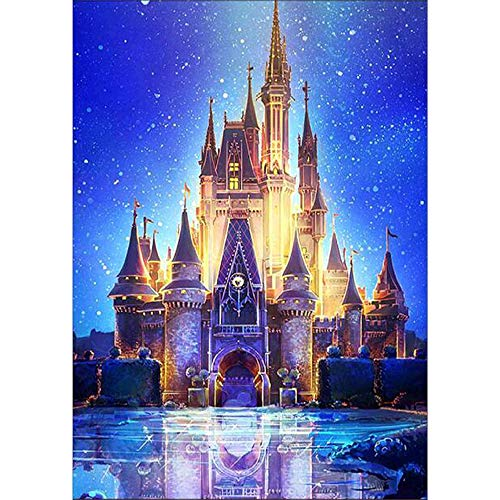 (Seaintheson DIY 5D Diamond Painting by Number Kit, Full Drill Tower Embroidery Rhinestone Pasted Stitch Arts Craft Canvas Wall Home Decor 30x40CM)