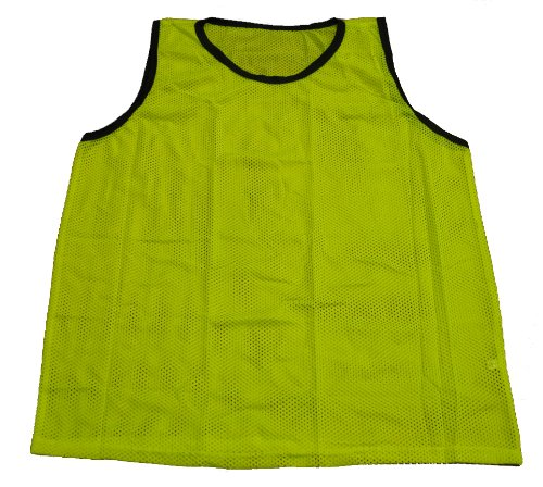 (Workoutz Youth Yellow Soccer Pinnies (Set of 12) Cheap Scrimmage Vests Mesh Team Training Practice Jersey)