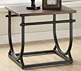 Acme Furniture 80456 Debbie End Table, Cherry & Black