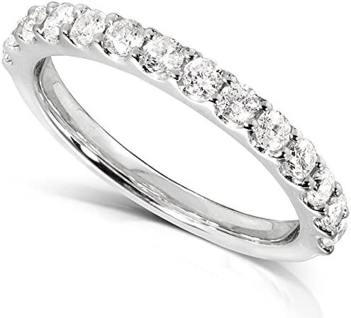 Kobelli Diamond Wedding Band 1/2 carat (ctw) in 14K White Gold