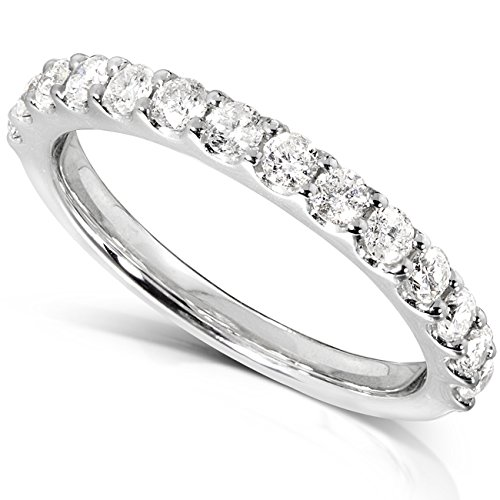 Merveilleux Amazon.com: Diamond Wedding Band 1/2 Carat (ctw) In 14K White Gold: Jewelry