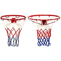 New Wall Mounted Hanging Basketball Goal Hoop Rim Metal Netting By KTOY