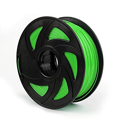 Areyourshop PLA 3D Printer Filament 1.75 mm,1kg Spool 2.2lbs, Dimensional Accuracy +/- 0.03mm,for 3D Printers,3D Printing Pen Fluo Green