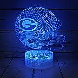 Ikavis 3D NFL Night Light, Optical Illusion