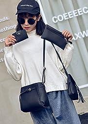 ilishop Womens Multi-purpose Patent Purse Set Clutch Shoulder Bags