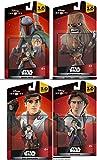 Star Wars Infinity Bundle Chewbacca & Han Solo + Boba Feat & Poe Dameron Character Figure combo 4-Pack