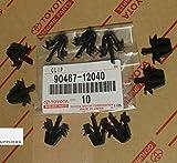 Toyota 90467-12040 Tacoma, RAV4, 4Runner, Grille Clips OEM, Set of 10