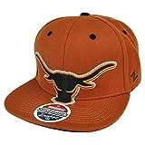 NCAA Zephyr Texas Longhorns Menace Snapback Hat Cap Flat Bill Burnt Orange Sport