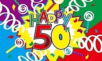 Happy 50th birthday 5ft x 3ft flag banner decoration with free uk happy 50th birthday 5ft x 3ft flag banner decoration with free uk postage publicscrutiny Image collections