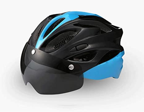 Qinmo Casco para Bicicleta Gafas magnéticas Desmontables Visor de ...
