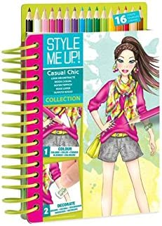 Amazon Com Style Me Up Fashion Design Coloring Book For Girls Set Of Pencils And Stickers Urban Chic Collection Smu 1477 Toys Games