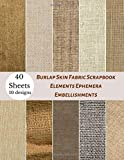 Burlap Skin Fabric Scrapbook Elements Ephemera