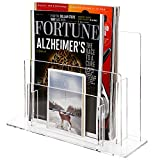 2 Tier Clear Acrylic Desktop Magazine & Paper Organizer / Commercial Brochure Display Rack - MyGift