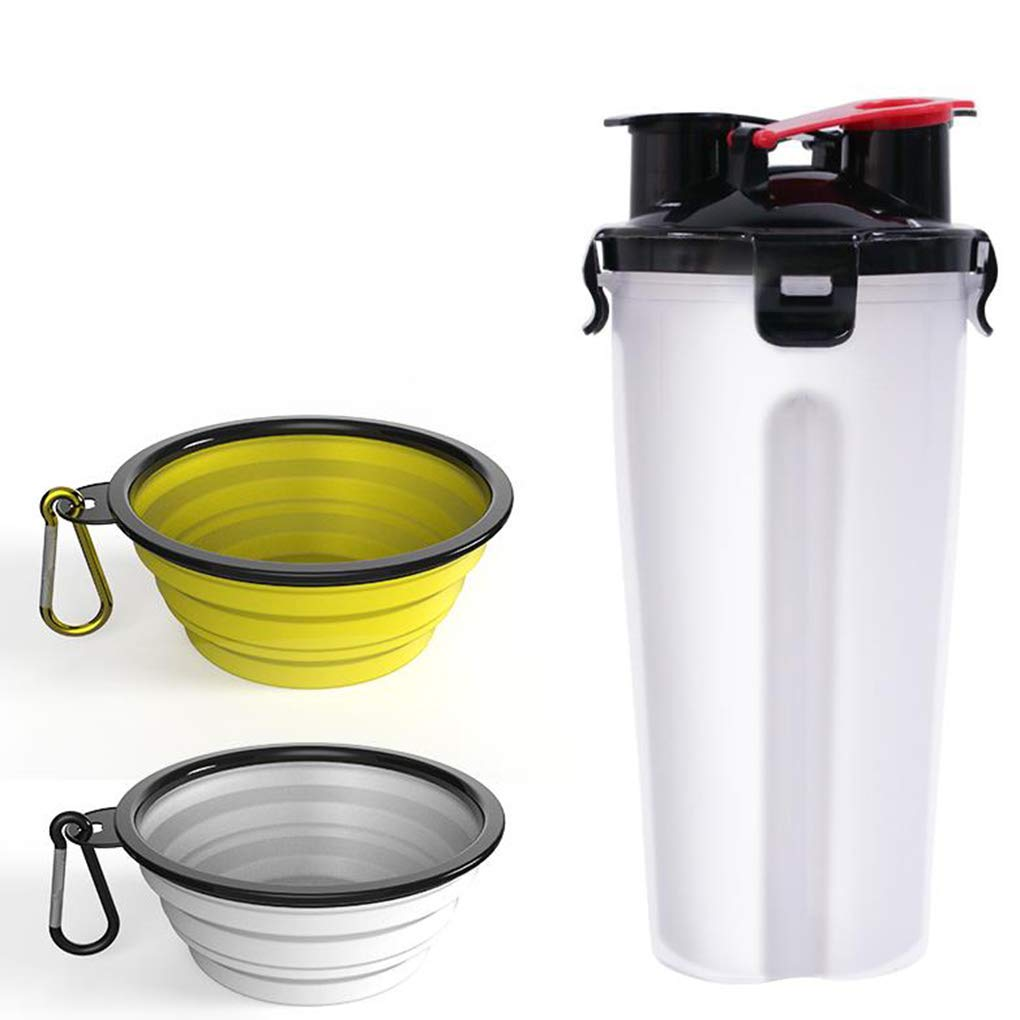 P Pet Cup Dog Drinking Bottle The Kettle Folding Dog Bowl Pet Water Cup Portable Cat Outdoor Drinking Water Tool,K