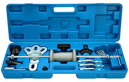 8MILELAKE 16pc Slide Hammer Dent Puller 2/3 Jaw External Internal Oil Seal Bearing - Hammer Kit Slide