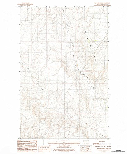 Flatland Fork (Dry Fork Creek MT topo map, 1:24000 scale, 7.5 X 7.5 Minute, Historical, 1984, updated 1984, 27 x 22.2 IN - Tyvek)