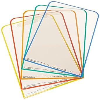 Amazon.com: Roylco R59040 Dry Erase Wipe Clean Worksheet Cover ...